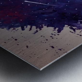 Space Splat Metal print