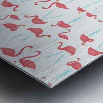 flamingos Metal print