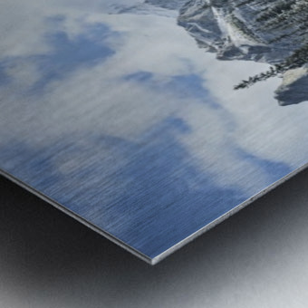 Mountain World Metal print