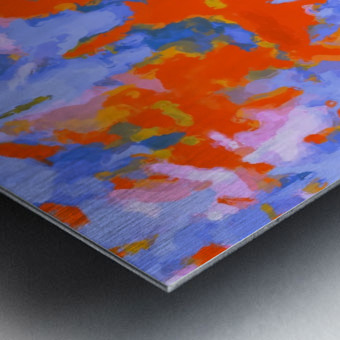 splash painting texture abstract background in red blue orange Metal print