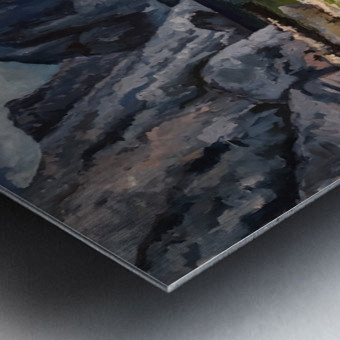 Capri grotto Metal print