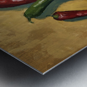 Six Peppers Metal print