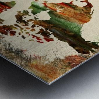 World Map Decorative Painting Metal print