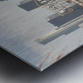 Westlake Theater to Los Angeles - Square Metal print