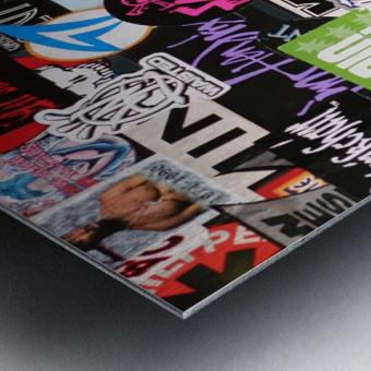 Rock & Roll Stickers Metal print