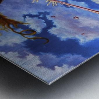 Windy Flutist Metal print