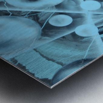 ATOMIC BLUE Metal print