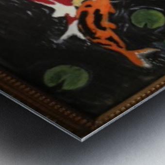 Koi Fish Painting Metal print