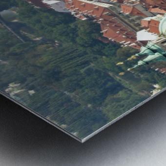 Looking Down on Prague Metal print