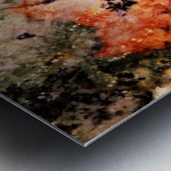 Marble edited Metal print