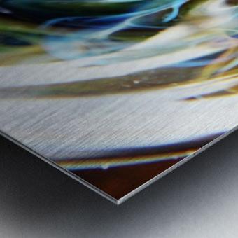 GalaxyInGlassV002 Metal print