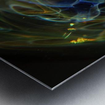 GalaxyInGlassV001 Metal print