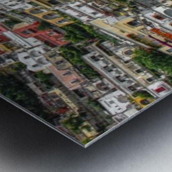 Positan village -  colourful houses Metal print