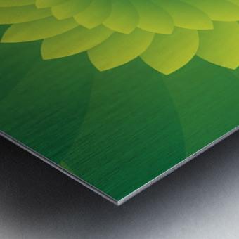 Shiny Greeny Art Metal print
