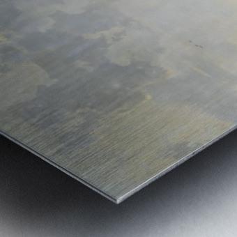 Rivierlandschap met ruiters Metal print