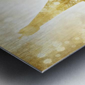EIFFEL TOWER   golden illusion Metal print