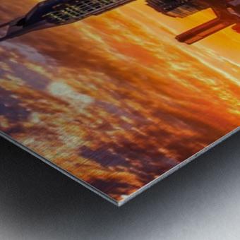 Nashville Skyline and sunset Metal print