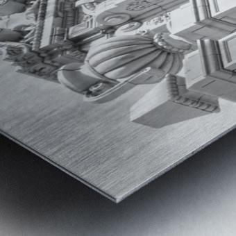 Details Los Angeles Theatre - B&W Metal print