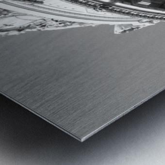 B&W Intricate Details - DTLA Metal print