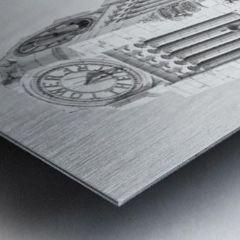 B&W Tower Theatre Clock - DTLA Metal print