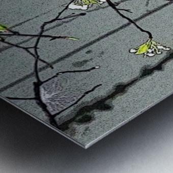 Birds & Blooms Metal print