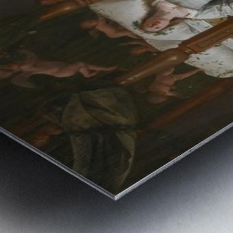 Tobias en Sarah bidden terwijl Rafael bindt de demon Metal print