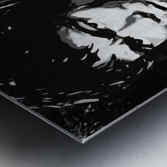 Be Water Charcol Metal print