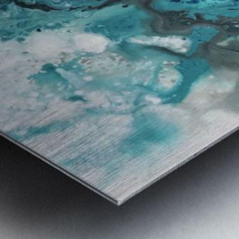 Ocean Glass Metal print