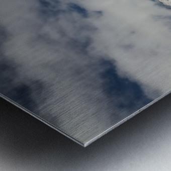 Clouds Crashing Metal print
