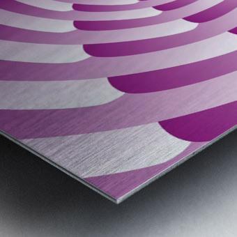 Abstract Pink Spiral Art  Metal print