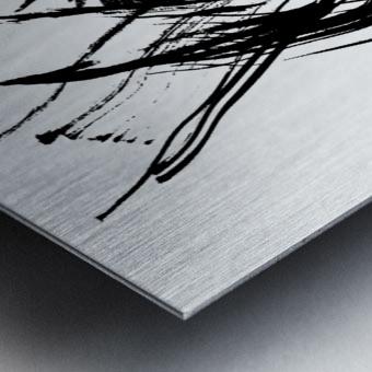 Abstract Girl 2 Metal print