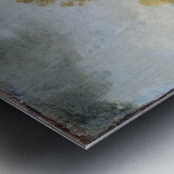 Sandbank with Travellers Metal print