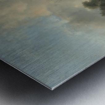 Landschap met zandweg Metal print