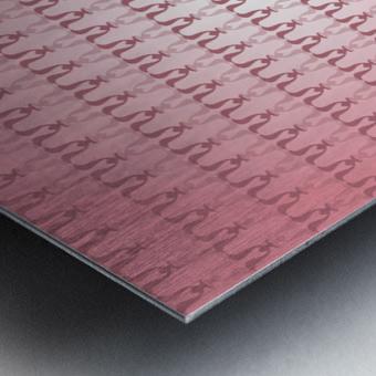 Arabic Pink Art Metal print
