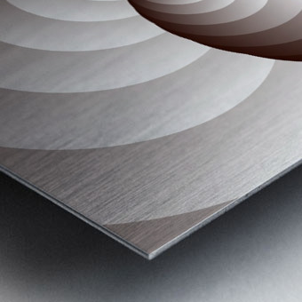 Spirally Metal print