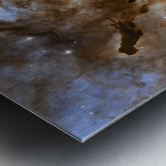 Carina Nebula Star-Forming Pillars. Metal print