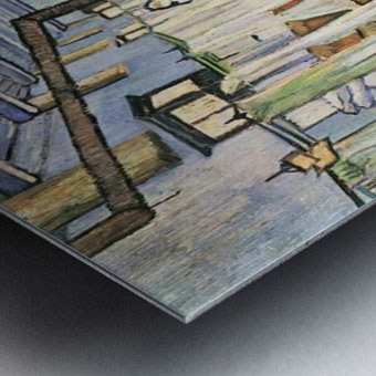 Dormitory in the Hospital in Arles by Van Gogh Metal print
