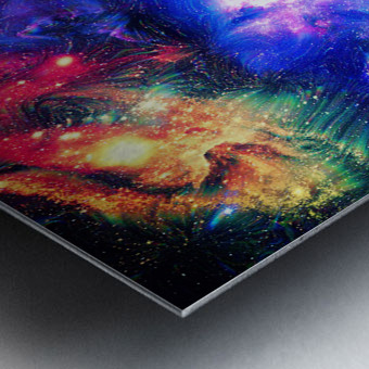 Colorful Galaxy  Metal print