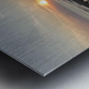 Tramonto a Livorno Metal print