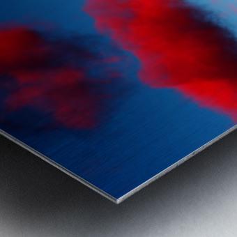 Deep Red Clouds Metal print