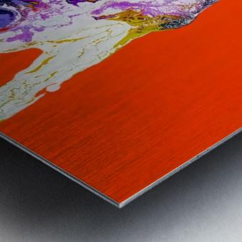 The Shape Metal print