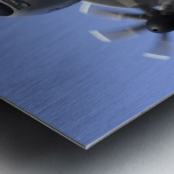 An E-2C Hawkeye prepares for landing. Metal print