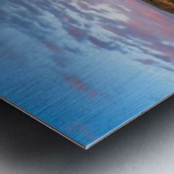 French Lake Sunset Metal print