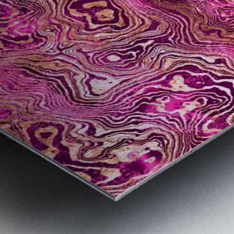Abstract Marble II Metal print