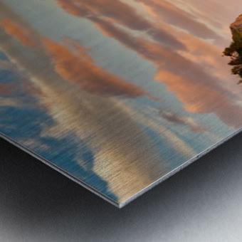 Tangerine Skies Metal print