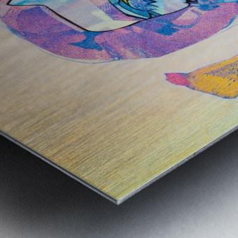 Flux Metal print