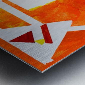 Geometric Orange. Jessica B Metal print
