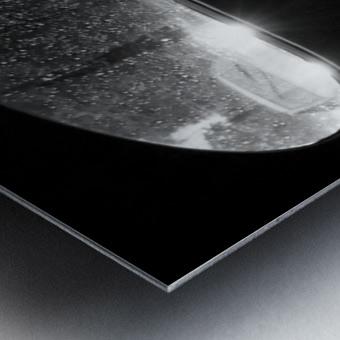Coming from behind. Metal print