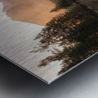 Glowing Mist Metal print