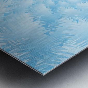 Blue Snowflake Spiral Metal print